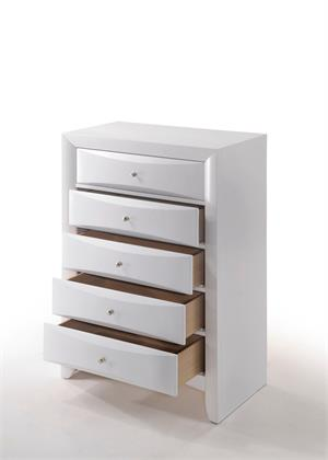 Ireland White Chest by Acme Furniture Item 21707 Open Drawers