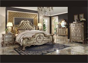 Acme Dresden Gold Bedroom Set,23157EK,23160Q,23163,23164,23165,23166,23154CK