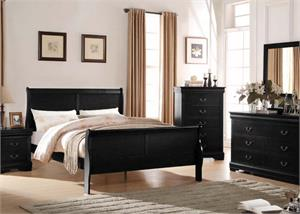 Louis Philippe Black Bedroom Collection,23730 acme,23730 bedroom