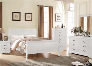 Louis Philippe White Bedroom Collection,23830 acme