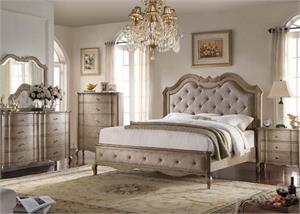 Chelmsford Collection Antique Taupe Bedroom Set Acme Furniture
