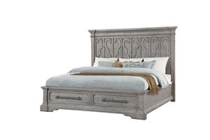 Artesia Collection Salvaged Natural Finish Storage Bed Acme 27100Q