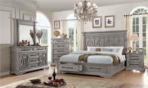 Artesia Collection Salvaged Natural Finish Storage Bedroom Set Acme