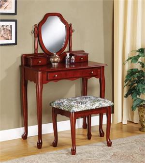 Vanity and Stool Set Item # 3441,by coaster