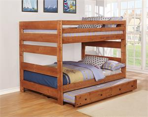 Wrangle Hill Bunk Bed Collection Amber Wash Finish by Coaster Item 460096