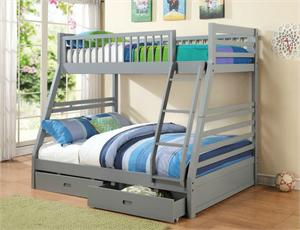 Cooper Grey Twin over Full Bunk Bed 460182,460182 coaster