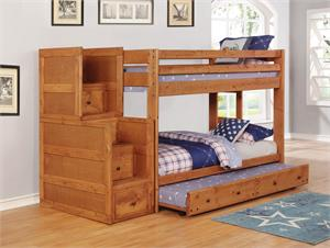 Wrangle Hill Bunk Bed Collection Amber Wash Finish by Coaster Item 460243
