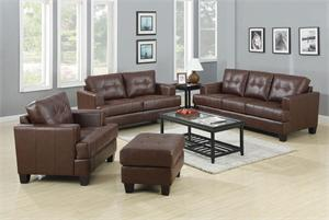 Brown Leather Living Room Set - Samuel Collection by Coaster