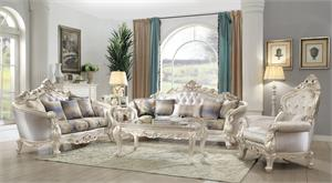 orsedd Collection Antique White Finish Sofa Set by Acme