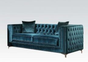Gillian Dark Teal Velvet Sofa Set Collection ,52790 acme,52791 acme