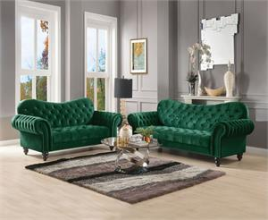 Iberis Green Sofa Set Collection,53400 acme,53400 sofa
