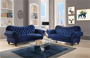 Iberis Navy Sofa Set Collection,53405 acme