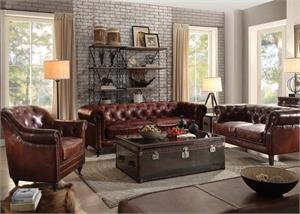 Aberdeen Top Grain Leather Sofa Collection,53625 acme,53625 sofa acme