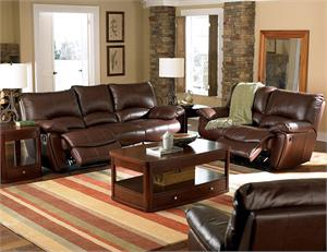 Leather Recliner Set Clifford Collection Item 600281 by Coaster Furniture