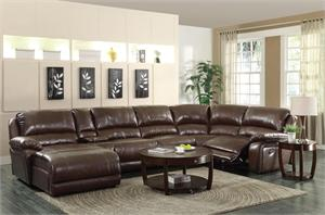 Leather Recliner Sectional Mackenzie Collection Item 600357 by Coaster Furniture