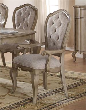 Chelmsford Collection Antique Taupe Arm Chair by Acme 66053