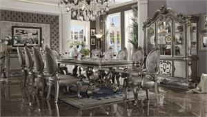 Versailles Antique Platinum Finish Dining Set