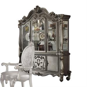 Versailles Collection Antique Platinum Finish Buffet & Hutch 66824