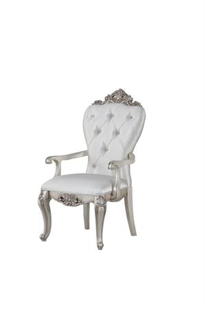 Gorsedd Collection Antique White Finish Arm Chair by Acme Item 67443