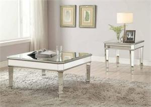 Arles Mirrored Coffee Table Collection,703938 coaster,703937 coaster