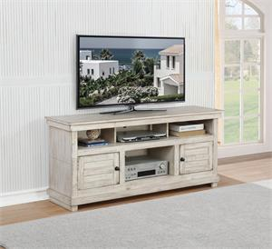 60-inch TV Stand Antique White Color by Coaster #708512