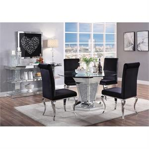 Noralie Acme Mirrored Dining , 71285 dining table,71285 acme,62072 acme,90460 acme