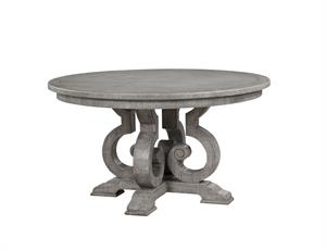 Artesia Collection Salvaged Natural Finish Round Dining Table Acme