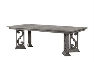Artesia Collection Salvaged Natural Finish Dining Table Acme 77090