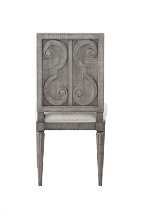 Artesia Collection Salvaged Natural Finish Round Side Chair Acme 77092