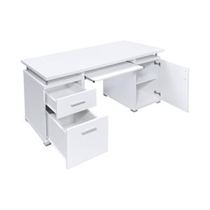Tracy 2-drawer Computer Desk White by Coaster 800108