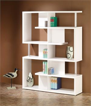 White Bookcase Style 800310 , by Coaster