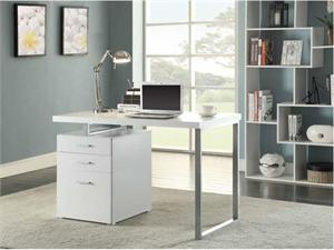 Brennan 3-drawer Office Desk White By Coaster 800325