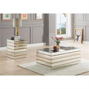 Osma Mirrored Coffee Table Collection,80330 acme,80332 acme
