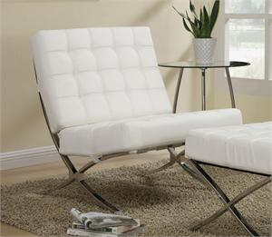 White Contemporary Accent Chair Item #902183 by Coaster
