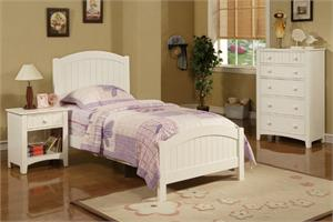 Ridgeline White Kids Bedroom Set,F9049 poundex,F4238 poundex,F4239 poundex