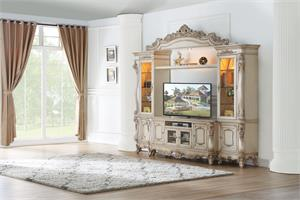 Gorsedd Collection Antique White Finish Entertainment Center by Acme
