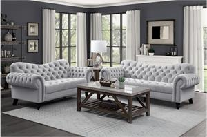Rosalie Gray Sofa Set Collection, 9330gy homelegance