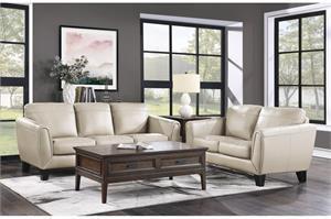 Spivey Beige Leather Sofa Set Collection,9460BE Homelegance