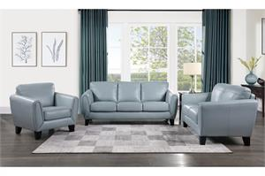 Spivey Leather Sofa Set Collection