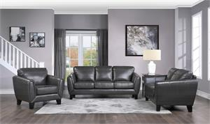 Spivey Dark Gray Leather Sofa Set Collection, 9460dg homelegance