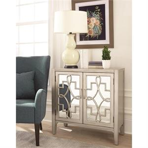 Accent Cabinet with Mirror Door Inserts 950771 by Coaster Furniture