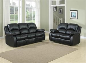 Cranley Black Living Room Collection Style 9700BLK Sofa & Loveseat by Homelegance