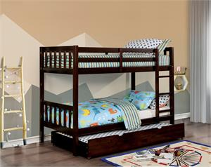 Emilie Twin/Twin Bunk Bed,cm-bk633ex bunk bed, cm-bk633ex furniture of america