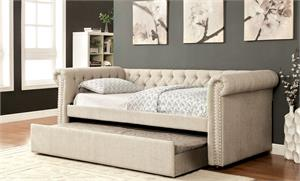 Leanna Beige Day Bed CM1027,cm1027BG furniture of america