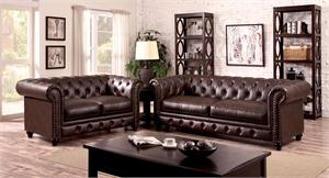 Stanford Brown Sofa Collection CM6269BR,cm6269br furniture of america