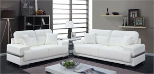 Zibak White Sofa Collection,cm6411 sofa, cm6411 furniture of america