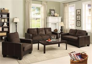 Laverne Chocolate Sofa Set Collection,cm6598dk furniture of america