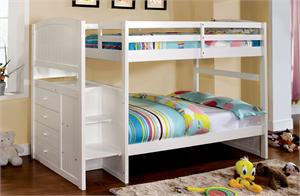 Bunk Bed Appenzell Collection Twin Over Twin by Import Direct Iitem CM_BK922T