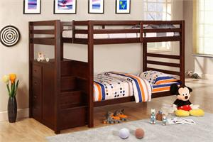 Pine Ridge Bunk Bed with Drawers CM-BK966,dark cherry finish bunk bed,import direct furniture ,furniture of america