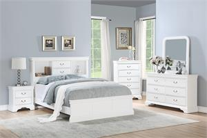 Carla White Bedroom Collection,f9422 poundex